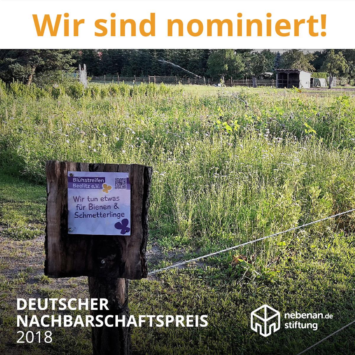 Wir sind nominiert Nachbarschaftspreis 2018