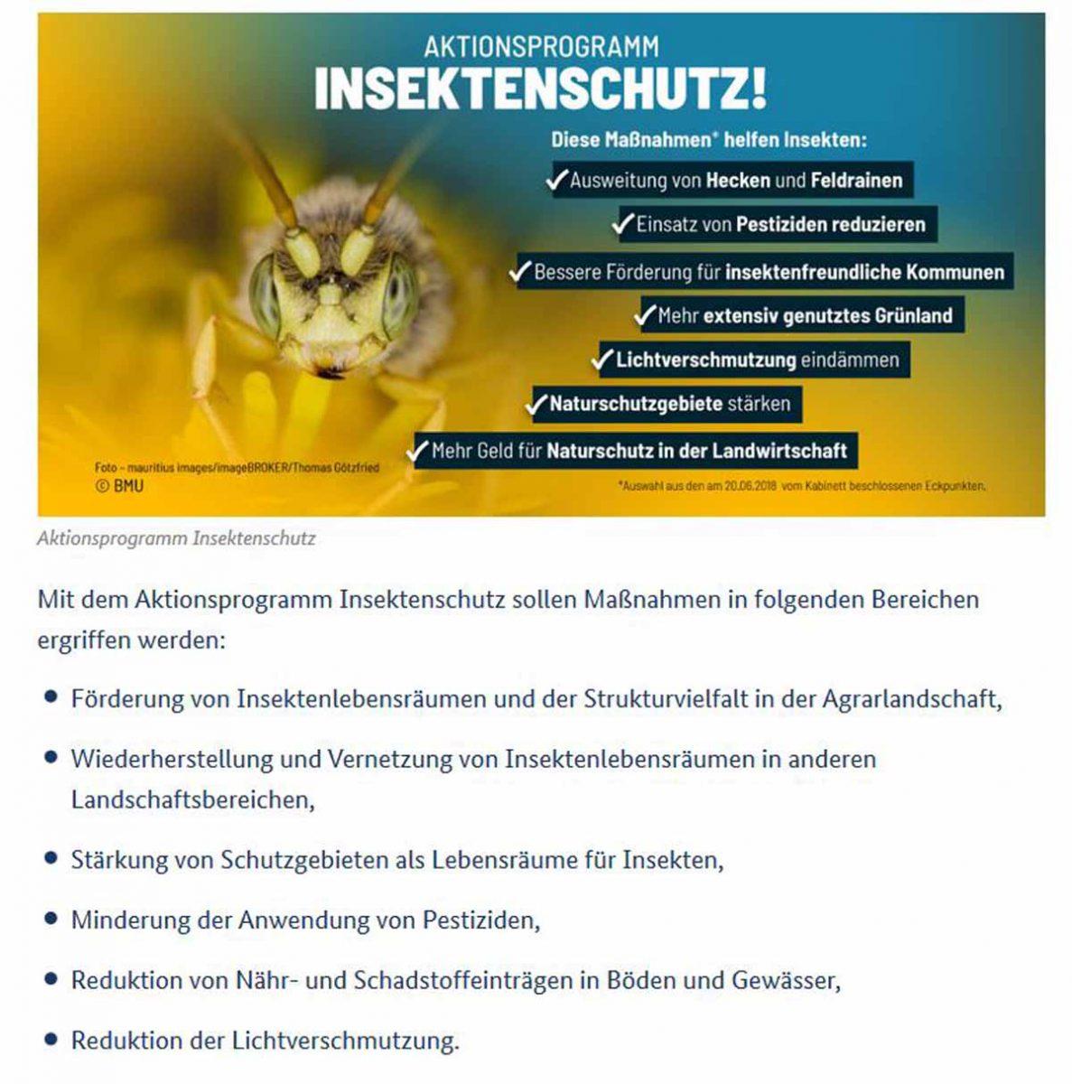 BfN internetseite Aktionsprogramm