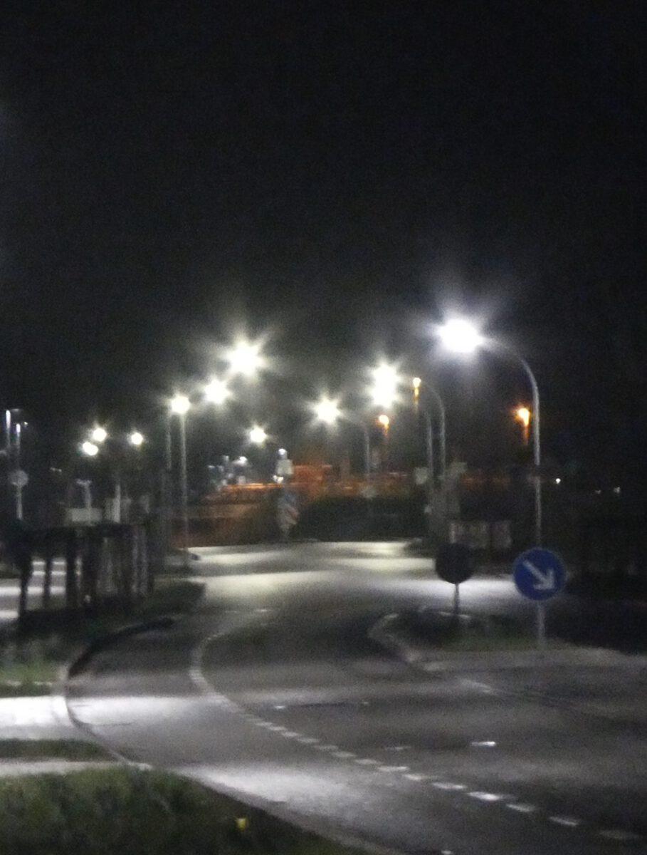 Streulicht Strassenlaterne in Beelitz