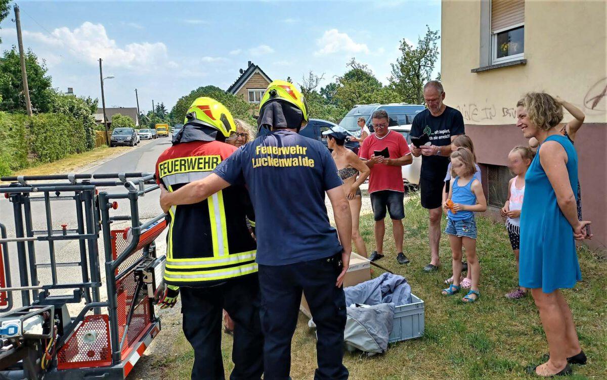 Herr Pade und Herr Keller Feuerwehr Luckenwalde