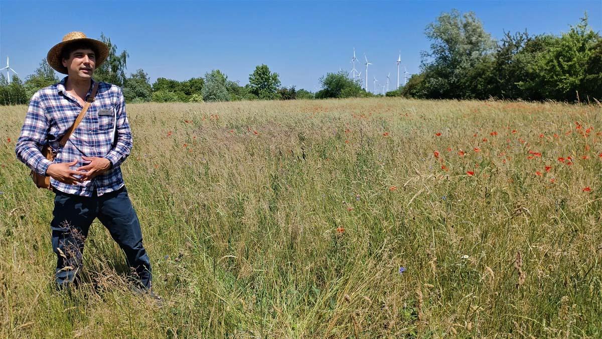 Florian Andres erklärt die kommunale Fläche
